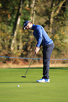 Brandon Stone (RSA) on the 5th green during the Pro-Am for the Sky Sports British Masters at Walton Heath Golf Club in Tadworth, Surrey, England on Tuesday 10th Oct 2018.<br />