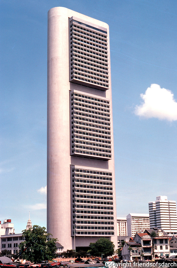 I.M. Pei and Partners 1976 : Singapore High Rise & River. Overseas--Chinese Banking Corporation Center.