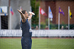 EUGENE, OR - JUNE 09: Filip Mihaljevic of the University of Virginia pumps up the crowd before throwing discus during the Division I Men's Outdoor Track & Field Championship held at Hayward Field on June 9, 2017 in Eugene, Oregon. Mihaljevic won the event with a 63.76 meter throw. (Photo by Jamie Schwaberow/NCAA Photos via Getty Images)