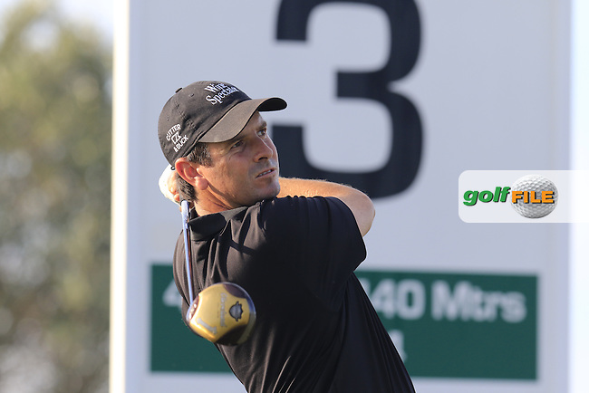 Thomas AIKEN (RSA) tees off the 3rd tee during Friday's Round 2 of the Portugal Masters 2015 held at the Oceanico Victoria Golf Course, Vilamoura Algarve, Portugal. 15-18th October 2015.<br /> Picture: Eoin Clarke | Golffile<br /> <br /> <br /> <br /> All photos usage must carry mandatory copyright credit (&copy; Golffile | Eoin Clarke)