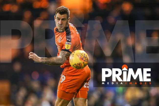 James Collins of Luton Town during the Sky Bet League 1 match between Luton Town and Bradford City at Kenilworth Road, Luton, England on 27 November 2018. Photo by David Horn.