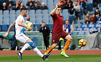 Roma&rsquo;s Stephan El Shaarawy, right, is challenged by Napoli's Elseid Hysaj during the Italian Serie A football match between Roma and Napoli at Rome's Olympic stadium, 4 March 2017. <br /> UPDATE IMAGES PRESS/Riccardo De Luca