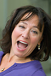 Arabella Weir at Blenheim Palace during the Woodstock Literary Festival, Woodstock, Oxfordshire, UK. 17 September 2010. Photograph copyright Graham Harrison.