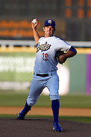 Lindsey Caughel #29 of the Rancho Cucamonga Quakes pitches against the Stockton Ports at LoanMart Field on June 13, 2013 in Rancho Cucamonga, California. Stockton defeated Rancho Cucamonga, 8-4. (Larry Goren/Four Seam Images)