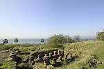 Ruins from the Bronze and Iron periods in Tel Hadar on the Eastern shore of the Sea of Galilee