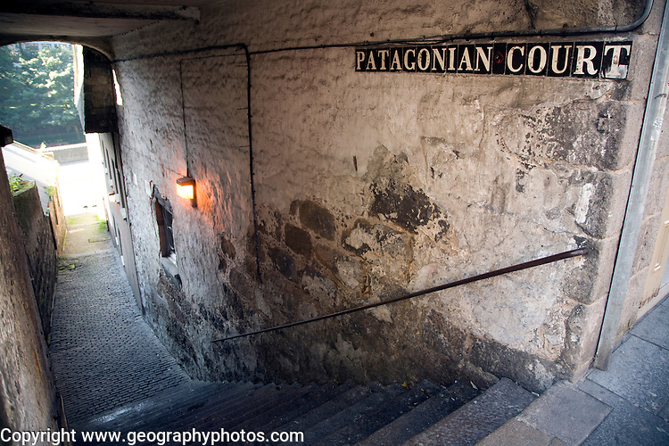 Patagonian Court old alleyway, Aberdeen, Scotland