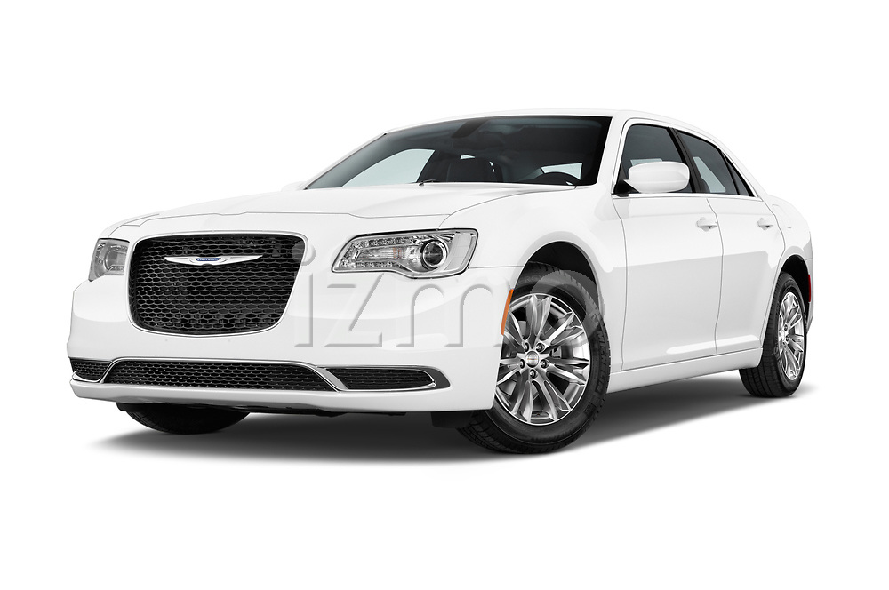 Stock pictures of low aggressive front three quarter view of 2017 Chrysler 300 Limited 4 Door Sedan Low Aggressive