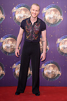 Jonnie Peacock at the launch of the new series of &quot;Strictly Come Dancing&quot; at New Broadcasting House, London, UK. <br /> 28 August  2017<br /> Picture: Steve Vas/Featureflash/SilverHub 0208 004 5359 sales@silverhubmedia.com