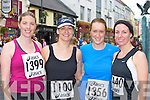 Carol Kelleher Rathmore, Noreen, Angela and Elaine Cronin Knocknagree on the run in the Killarney Womens mini marathon on Saturday..