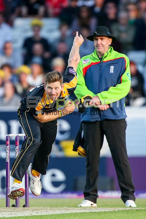 Picture by Alex Whitehead/SWpix.com - 05/06/2015 - Cricket - NatWest T20 Blast - Yorkshire Vikings v Lancashire Lightning - Headingley Cricket Ground, Leeds, England - Yorkshire's Richard Pyrah bowls.