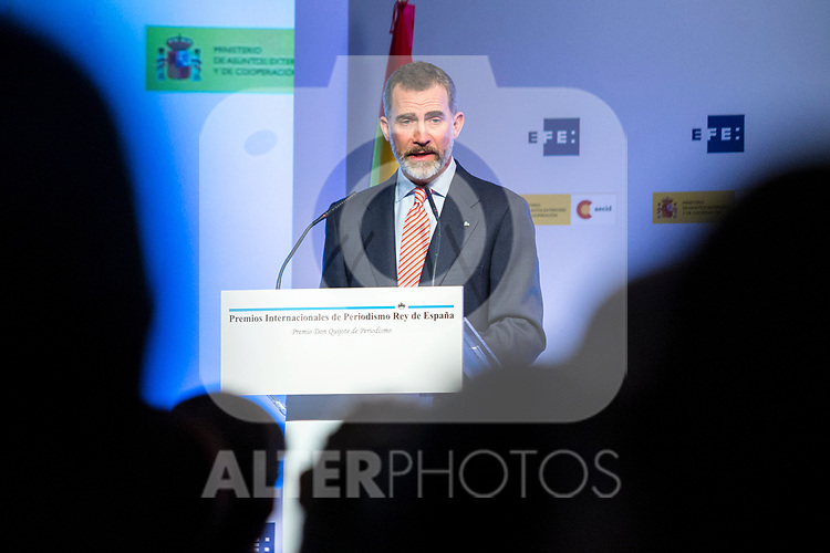 "Spanish king Felipe attends XXXIV International prizes of journalism ""Rey de Espana"" and the XIII edition of the prize ""Don Quijote"" of journalism in Madrid, Spain. March 27, 2017. (ALTERPHOTOS / Rodrigo Jimenez)"
