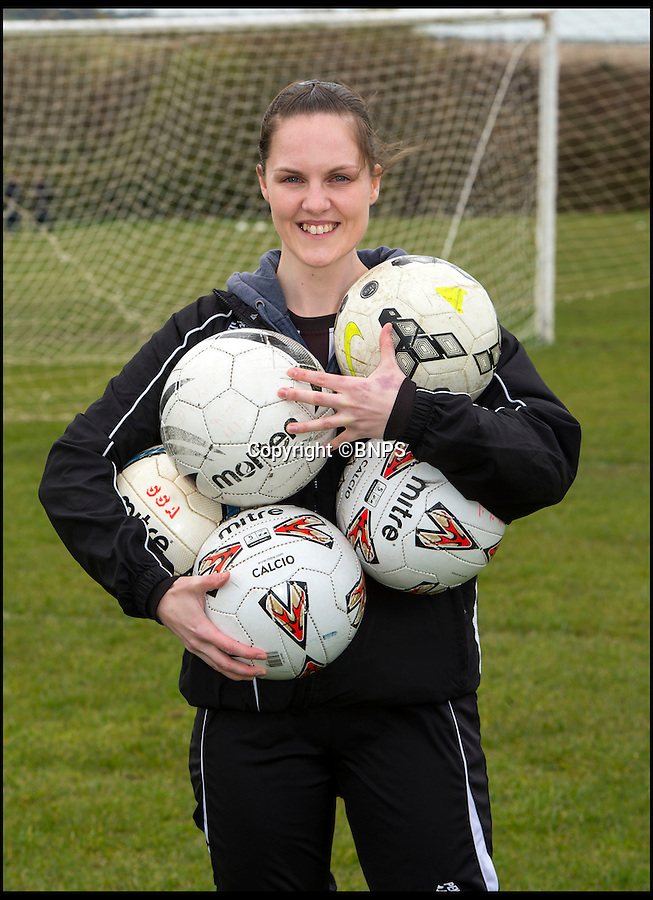 BNPS.co.uk (01202 558833)<br /> Pic: PhilYeomans/BNPS<br /> <br /> Full of goals...<br /> <br /> Forget Vardy, Kane and Aguero  - Dorset goal machine Becky Narramore has got more goals than all of them put together this season...<br /> <br /> There's a new fox in the box in the shape of super striker Becky Narramore who has scored a staggering 80 goals in just 11 games this season.<br /> <br /> Becky, 27, has taken the Dorset Women's League by storm this season and has averaged an impressive 7.2 goals a game. <br /> <br /> She has netted more times than Premier League stars Vardy, Harry Kane and Sergio Aguero combined.