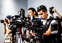 C&aacute;maras y reporteros de presa 10abril2018.  <br /> (Photo:Luis Gutierrez/ NortePhoto.com)<br /> <br /> pclaves:  Universidad de Sonora, UNISON, video, c&aacute;maras de video, video c&aacute;maras,