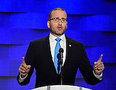 Chad Griffin, President, Human Rights Campaign, makes remarks during the fourth session of the 2016 Democratic National Convention at the Wells Fargo Center in Philadelphia, Pennsylvania on Thursday, July 28, 2016.<br /> Credit: Ron Sachs / CNP<br /> (RESTRICTION: NO New York or New Jersey Newspapers or newspapers within a 75 mile radius of New York City)