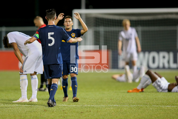 Kansas City, MO. - Sunday July 8, 2018: US Soccer Boys' DA U-18/19 Semi Final Vancouver Whitecaps FC vs LA Galaxy at Swope Soccer Village.