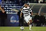 09 December 2011: UNCC's Evan James. The Creighton University Bluejays played the University of North Carolina Charlotte 49ers to a 0-0 overtime tie, the 49ers won the penalty shootout 4-1 to advance at Regions Park in Hoover, Alabama in an NCAA Division I Men's Soccer College Cup semifinal game.