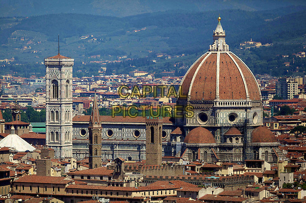 Overview, Old Town, Royal Wedding of Albert Brenninkmeijer and Maria Carolina Princess de Bourbon de Parma, Basilica of San Miniato al Monte, Florence, Italy, 16 June 2012.royals royalty buildings gv general view dome city.CAP/PPG/JH.©Jens Hartmann/People Picture/Capital Pictures
