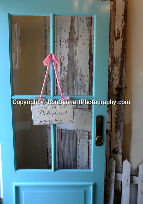 Saint Michaels Maryland Welcome door, Delighted you are here, blue door, baby blue door, Fine Art Photography by Ron Bennett, Fine Art, Fine Art photography, Art Photography, Copyright RonBennettPhotography.com ©