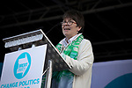 Claire Fox speaking on stage at a Brexit Party event in Chester, Cheshire. The keynote speech was given by the Brexit Party leader Nigel Farage MEP who appeared alongside former Conservative government minister Ann Widdecombe. The event was attended by around 300 people and was one of the first since the formation of the Brexit Party by Nigel Farage in Spring 2019.