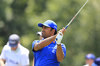 Anirban Lahiri (IND) tees off the par3 13th tee during Thursday's Round 1 of the 2017 PGA Championship held at Quail Hollow Golf Club, Charlotte, North Carolina, USA. 10th August 2017.<br /> Picture: Eoin Clarke | Golffile<br /> <br /> <br /> All photos usage must carry mandatory copyright credit (&copy; Golffile | Eoin Clarke)