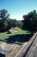 Mayan ballcourt at the ruins of El Tazumal in El Salvador Central America
