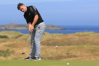 James Sugrue (Mallow) on the 16th green during Round 2 - Strokeplay of the North of Ireland Championship at Royal Portrush Golf Club, Portrush, Co. Antrim on Tuesday 10th July 2018.<br /> Picture:  Thos Caffrey / Golffile