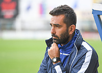 20190813 - DENDERLEEUW, BELGIUM : PAOK's head coach Spyridon Filippou pictured during the female soccer game between the Greek PAOK Thessaloniki Ladies FC and the Norwegian LSK Kvinner Fotballklubb Ladies , the third and final game for both teams in the Uefa Womens Champions League Qualifying round in group 8 , Tuesday 13 th August 2019 at the Van Roy Stadium in Denderleeuw  , Belgium  .  PHOTO SPORTPIX.BE for NTB | DAVID CATRY