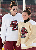 Megan Keller (BC - 4), Kenzie Kent (BC - 12) - The Boston College Eagles practiced at Fenway on Monday, January 9, 2017, in Boston, Massachusetts.Megan Keller (BC - 4), Kenzie Kent (BC - 12) - The Boston College Eagles practiced at Fenway on Monday, January 9, 2017, in Boston, Massachusetts.