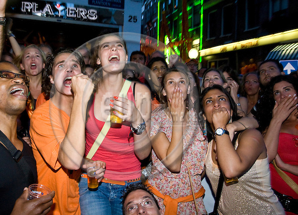 AMSTERDAM - THE NETHERLANDS -- 11 JULY 2010 -- The FIFA Worldcup Final Netherlands v/s Spain. -- Fans watching the final in cafes and outside screens. -- Fans  were shocked when Spain scored the one and only goal.  -- PHOTO: Juha ROININEN / EUP-IMAGES.