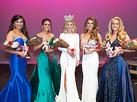 Freshman elementary education major and Carthage native Sydney Ogletree (center) was crowned Miss Maroon and White on Feb. 17. Maroon &amp; White Beauties were, from left to right, junior Victoria Kokinos of Dacula, Georgia, senior Madison Eschan of Cullman, Alabama, senior Hannah Whitlock of Pontotoc and senior Lydia Nunes of Ellisville.<br />