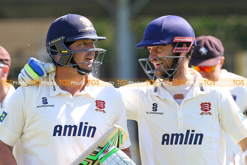 Jesse Ryder (L) and James Foster of Essex celebrate victory for the home team - Essex CCC vs Kent CCC - LV County Championship Division Two Cricket at the Essex County Ground, Chelmsford, Essex - 21/04/15 - MANDATORY CREDIT: TGSPHOTO - Self billing applies where appropriate - contact@tgsphoto.co.uk - NO UNPAID USE