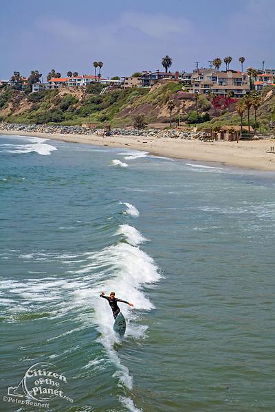 Surfer, San Clemente Pier, Orange County, California, USA