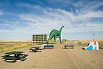 Wall Drug--80 foot green dinosaur at the dinosaur park