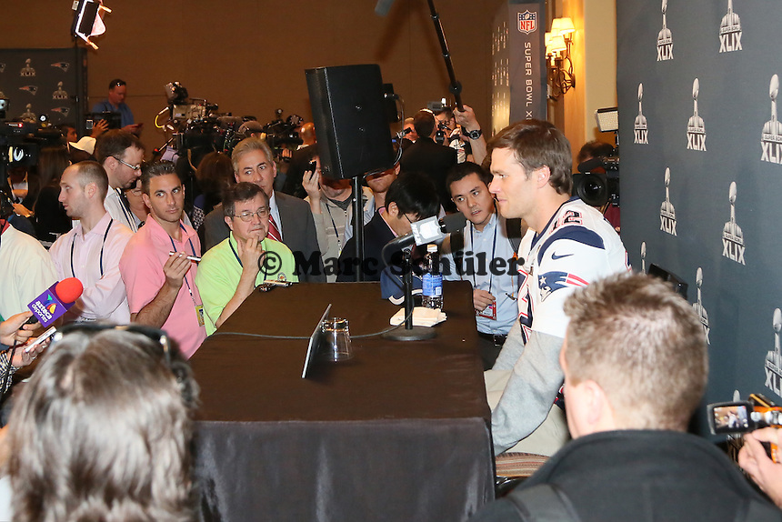 QB Tom Brady (Patriots) - Super Bowl XLIX New England Patriots Team-PK, Sheraton Arizona Grand Hotel