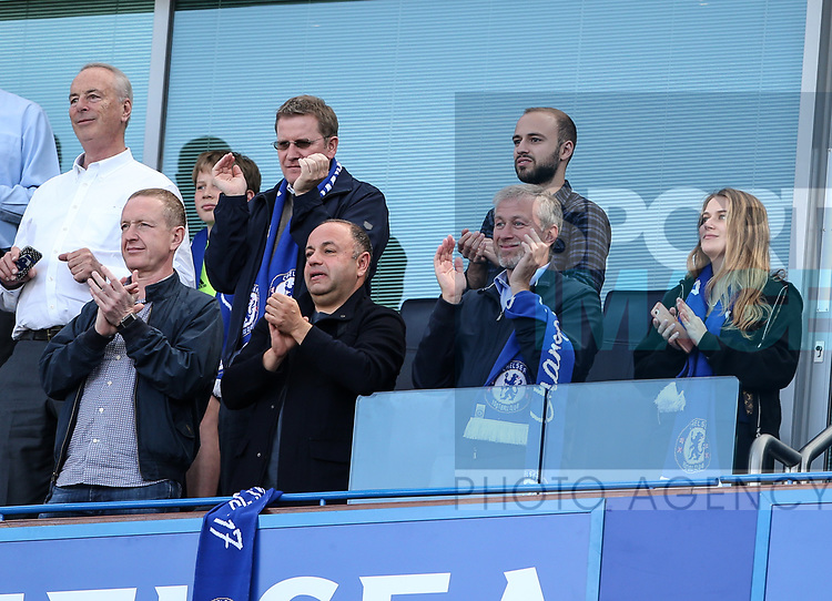 Chelsea's Roman Abramovich looks on during the Premier League match at Stamford Bridge Stadium, London. Picture date: May 18th, 2017. Pic credit should read: David Klein/Sportimage