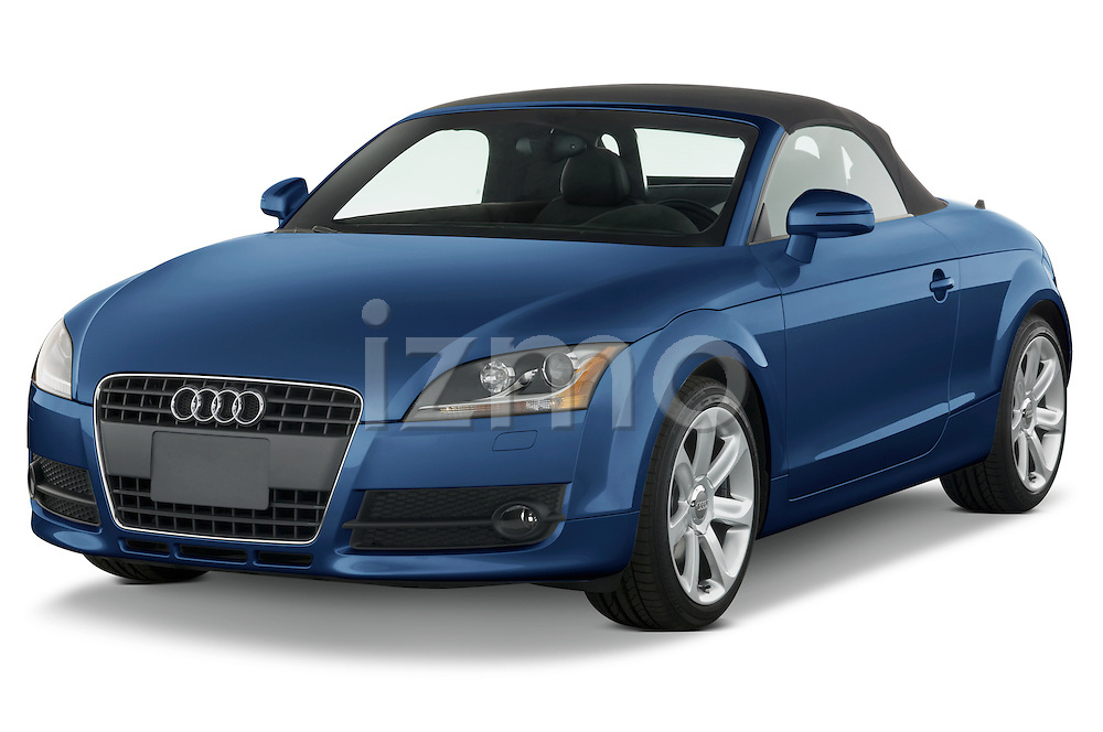 Front three quarter view of a 2007 - 2010 Audi TT Roadster with top up