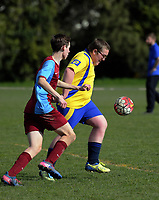 1st XI football. Kuranui College v Tararua College Sports Exchange at Kuranui College in Greytown, Wairarapa, New Zealand on Friday, 11 August 2017. Photo: Dave Lintott / lintottphoto.co.nz