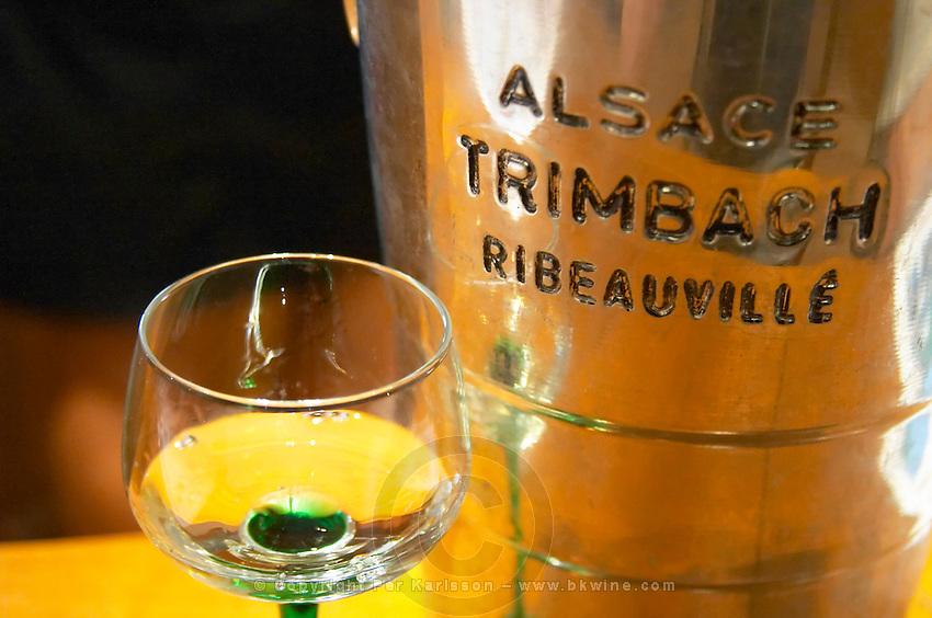 ice bucket alsace glass f e trimbach ribeauville alsace france