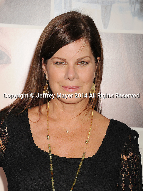 HOLLYWOOD, CA- AUGUST 20: Actress Marcia Gay Harden arrives at the Los Angeles premiere of 'If I Stay' at TCL Chinese Theatre on August 20, 2014 in Hollywood, California.