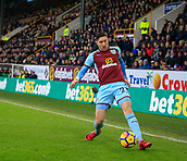 9th December 2017, Turf Moor, Burnley, England; EPL Premier League football, Burnley versus Watford; Stephen Ward of Burnley stops the ball from running out of play