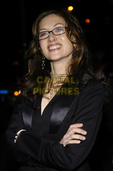 "ANNABELLE GURWITCH.Premiere of ""Fired!"" at the Village East Theater, New York, New York, USA..January 24th, 2007.half length black jacket satin lapels arms crossed glasses.CAP/ADM/BL.©Bill Lyons/AdMedia/Capital Pictures *** Local Caption ***"