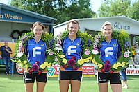 KAATSEN: ARUM: 28-07-2013, Dames en Heren Hoofdklasse wedstrijd, Joukje Kuperus, Harmke Siegersma, Feikje Bouwhuis, ©foto Martin de Jong