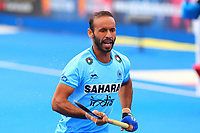 Ramandeep Singh of India during the Hockey World League Quarter-Final match between India and Malaysia at the Olympic Park, London, England on 22 June 2017. Photo by Steve McCarthy.
