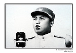 NR00748 / Propaganda portrait of Kim Il Sung making speech for celebrating the victory Liberation War (8 June 28, 1995)used for the annual anniversary of his birth 15 April. Although he deceased in 1994, he remains the President for Life of North Korea. This year North Koreans will celebrate the 10th anniversary of his death.....Kim Il Sung lors de la selebration de la fin de la guerre. Bien qu'il soit décédé en 1994, il demeure le Président à Vie de la Corée du Nord. Cette année, les Nord-Coréens célèbrerons le 10ième anniversaire de sa mort...Pyongyang, Coree du Nord, archives nord-coréennes...©Nicolas Righetti/Rezo