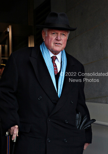"""Washington, DC - January 20, 2009 -- United States Senator Edward M. """"Ted"""" Kennedy (Democrat of Massachusetts), arrives for the ceremony where President Barack Obama was sworn-in as the 44th president of the United States at the Capitol in Washington, Tuesday, January 20, 2009.      .Credit: J. Scott Applewhite - Pool via CNP"""