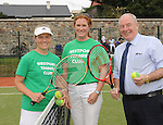 Anyone for Tennis&hellip;pictured at the official opening of the upgraded courts at Westport Tennis Club were Tennis Coach Emma Buckley, Mary Ward Club Chairperson  and Minister of State at the Department of Rural affairs Michael Ring TD. <br />