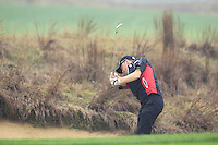 Michael Hoey (NIR) plays his 2nd shot on the 14th hole during Friday's Round 2 of the 2014 BMW Masters held at Lake Malaren, Shanghai, China 31st October 2014.<br /> Picture: Eoin Clarke www.golffile.ie