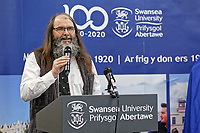 Pictured: Professor Alan Dix. Monday 04 February 2019<br /> Re: Opening of the Computational Foundry at the Swansea University Bay Campus, south Wales, UK.