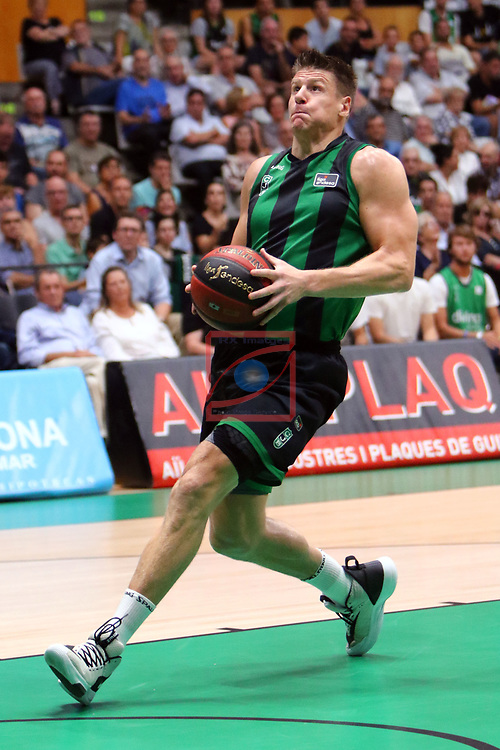 Liga ENDESA 2019/2020. Game: 01.<br /> Club Joventut Badalona vs Real Madrid: 69-88.<br /> Luke Harangody.