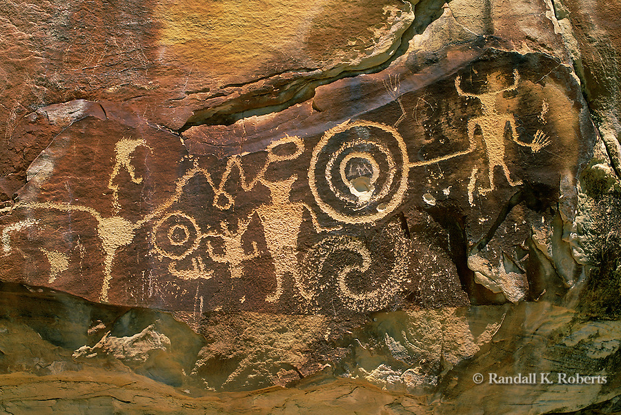 Petroglyph panel, McKee Springs, Dinosaur National Monument, Utah